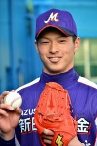 本日(2/27)担当、高卒2年目右腕の山田投手